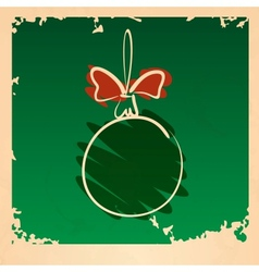 Vintage Christmas Ball vector image