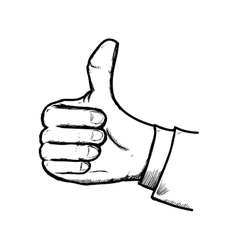 Thumbs up icon hand design graphic vector