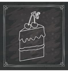 Cake of bakery food design vector