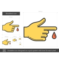 Blood test line icon vector