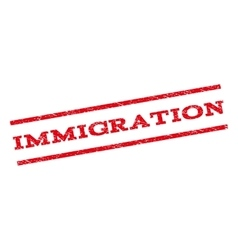 Immigration watermark stamp vector