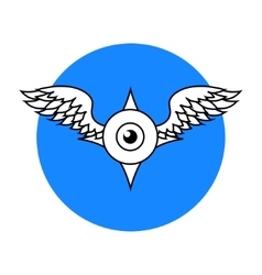 Winged eyeball vector