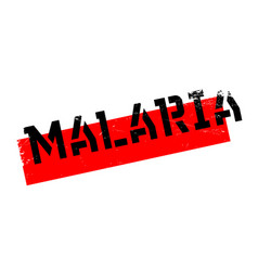 Malaria rubber stamp vector