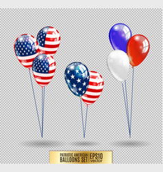 Us patriotic balloons colored balloons specially vector