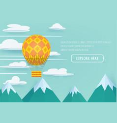 Hot air balloon festival vector
