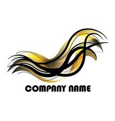 Golden Bird vector image