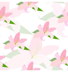 Lilly flower seamless pattern vector