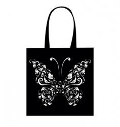 shopping bag design vintage butterfly vector image