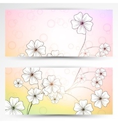 Abstract banner background vector