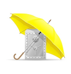 Concept safe under umbrella vector
