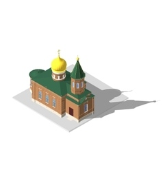 Church building isometric 3d icon vector
