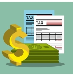 Pay taxes graphic vector