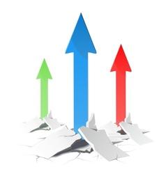 Arrows raising up concept vector image
