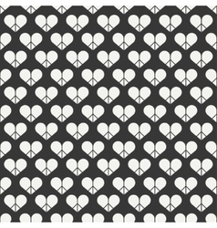 Geometric romantic line seamless pattern with vector