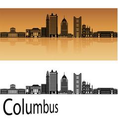 Columbus skyline in orange vector image