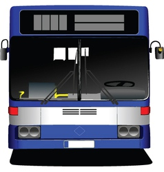 Front view of bus vector