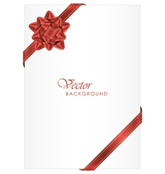 ackground with red bow vector image vector image