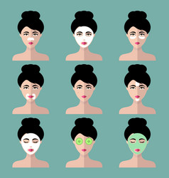 Big set of women icons with different vector