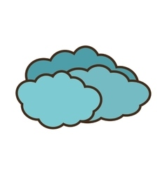 cartoon travel cloud weather concept vector image