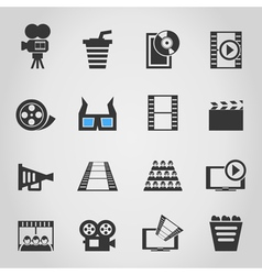 Cinema icons4 vector image vector image