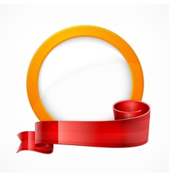 Circle frame with ribbon vector image
