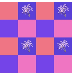 Coconut palm trees seamless pattern background vector image vector image