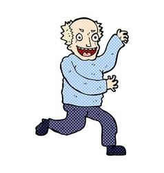 Comic cartoon evil old man vector