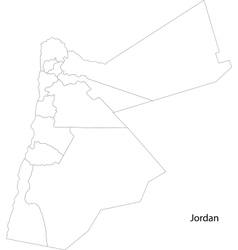Contour Jordan map vector image vector image