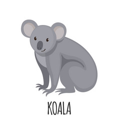 cute koala in flat style vector image vector image