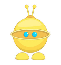 Cute robot toy icon cartoon style vector