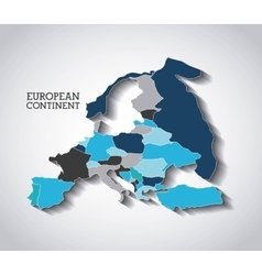 european continent design vector image vector image