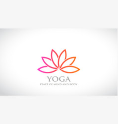 flower abstract logo lotus design spa and vector image vector image