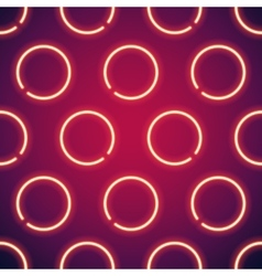 Glowing neon circles seamless background vector