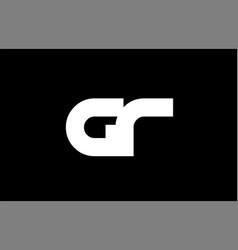gr g r black white bold pink blue joint letter vector image