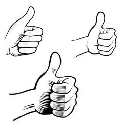 human hand symbol best choice vector image