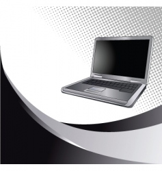 laptop2 vector image vector image