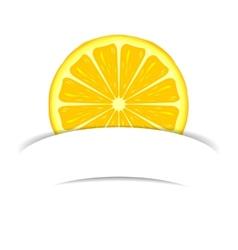 Lemon with paper banner vector
