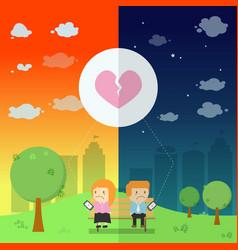 lover send the emotional broken heart vector image vector image