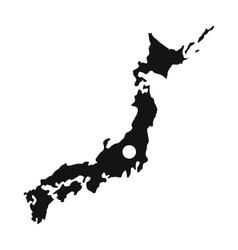 Map of japan icon simple style vector