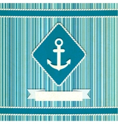 marine striped old background vector image vector image