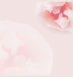 pink pastel rose poster vector image