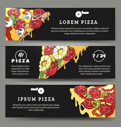 Pizza flyers set vector