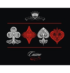 Playing Card Ornamental vector image