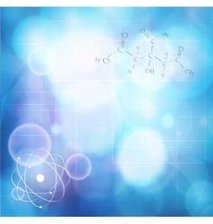 Shining atom vector image vector image