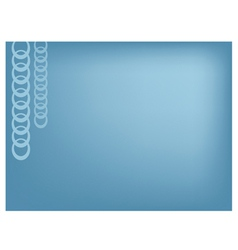 Silver chain on blue background vector
