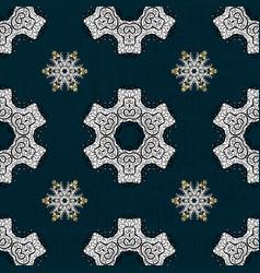 sketch baroque damask pattern floral pattern vector image vector image