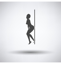 Stripper night club icon vector image vector image