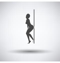 Stripper night club icon vector