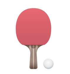 table tennis paddle and ball vector image vector image