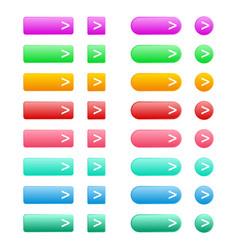 Web elements button set vector